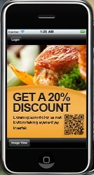 Smartphone Mobile Promotions and QR Code Coupons
