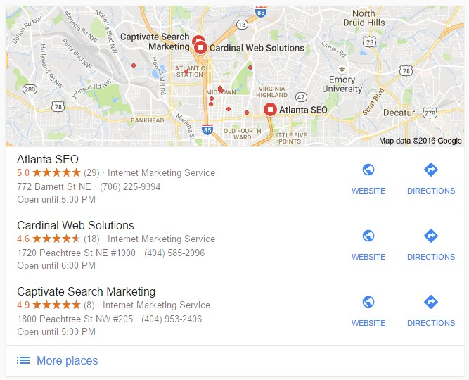 Google maps SEO 3-Pack