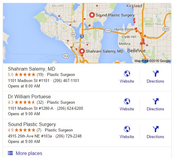 Google Local 3-Pack SEO for Surgeons
